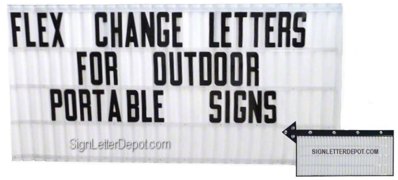 flex letters plastic copy change portable sign letters