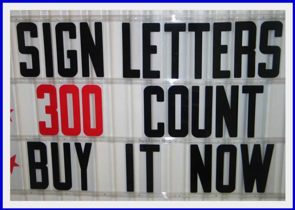 inch Flexible Plastic Outdoor Portable Marquee Sign Letters | eBay