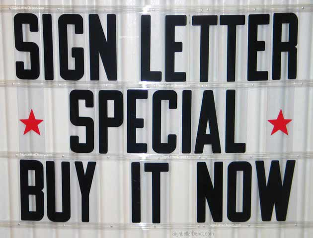 Condensed Flex Letters for Portable Signs - Plastic Sign Letters