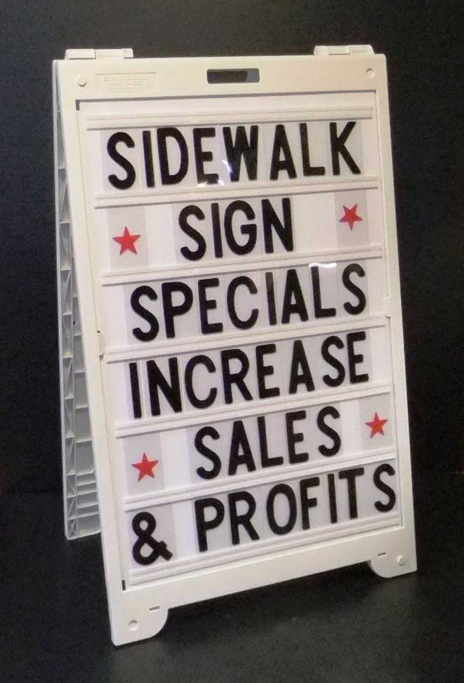 Sidewalk Signs Econo Classic A Frame With Message Board Letter Kit