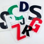 4 on 5 inch plastic letters