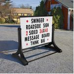 Roadside Outdoor Sign with Message Board