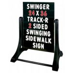 Swinger Sidewalk Sign Changeable Message Board
