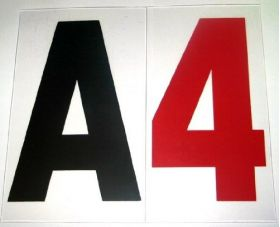 """4 in on 5"""" 060 acrylic Marquee Zip Letter"""