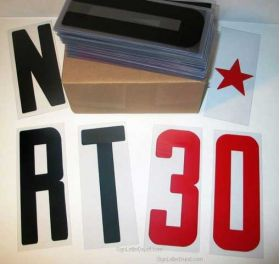 """8"""" on 8 7/8"""" high 030 Flex-Plastic Sign Letters"""