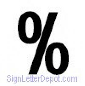 percent symbol number  for Marquee Sign