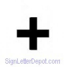plus sign for changeable letter signs