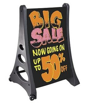 A Frame Sidewalk Sign with Black Marker Board