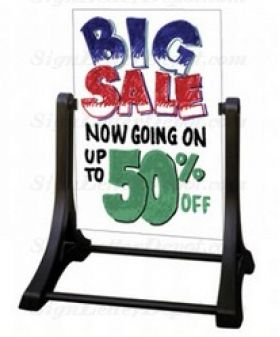 Swinger Sidewalk Sign with White Marker Board