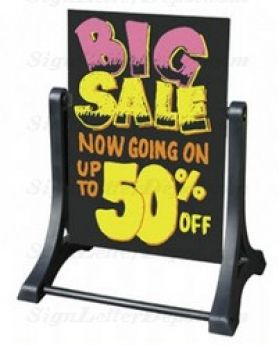 Swinger Sidewalk Sign with Marker Board