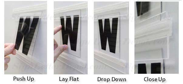 How to put Rigid Letters on Sign Panel