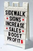 Signicade 6 line folding sidewalk sign