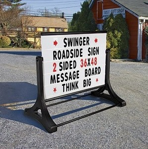 Portable Roadside Sign with Changeable Letter Board