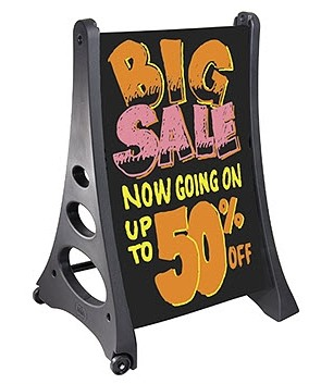 A-Frame Sidewalk Signs with Marker Board