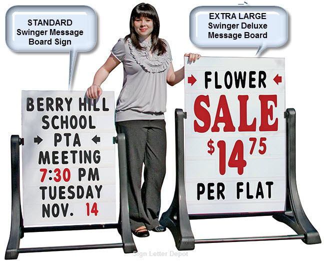Standard VS Extra Large Swinger Sidewalk Sign