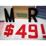 "6"" Block Copy-Change Letters and 10 piece Flex Letter Track Kit"