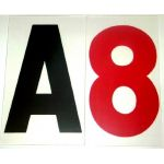 """8"""" on 9"""" 060 Rigid Reader Board Marquee Letter"""
