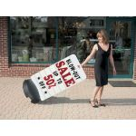 Rolling Sidewalk Sign - Tip N Roll
