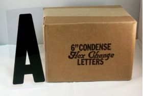 "6"" Portable Sign Letters - Flex Change"