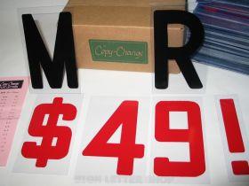 6 portable sign letters - Copy Change