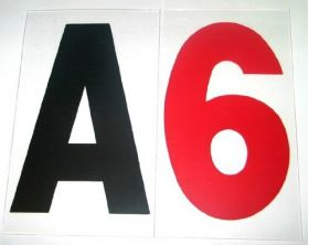 """6 inch on 7"""" Rigid Marquee Plastic Letters"""