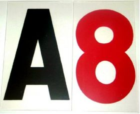 """8"""" on 10"""" 060 Rigid Reader Board Marquee Letter"""