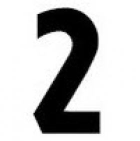 Replacement Numbers and Letters for Outdoor Signs - Number 2