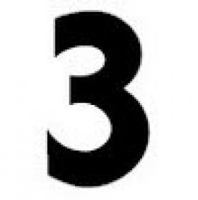 Order Single Sign Letters and Numbers - Number 3