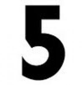 Number 5 for Gemini Changeable Letter Signs