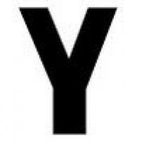 Plastic Letter Y - Gemini Letters