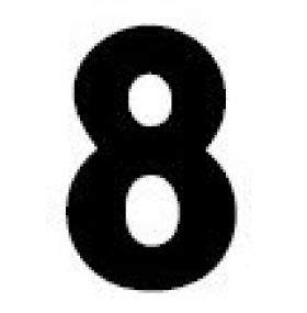 Gemini Number 8 for Outdoor Marquee Signs