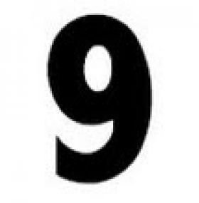 Changeable Number 9 for Reader Board Signs
