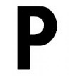 Gemini Reader Board Letters - Letter P