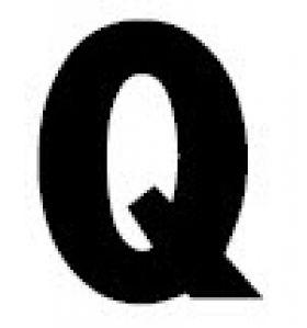 Gemini Changeable Copy Letters - Letter Q