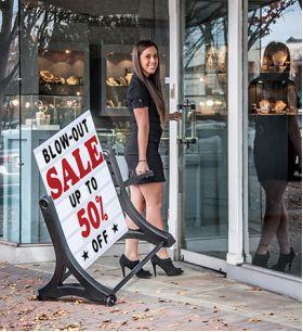 Best Selling Rolling Swinger Sidewalk Sign