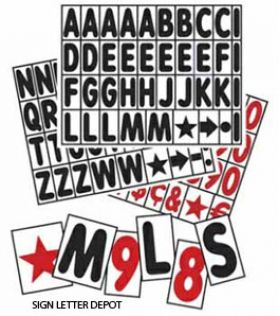 Swinger Portable Road Sign Letter and Numbers