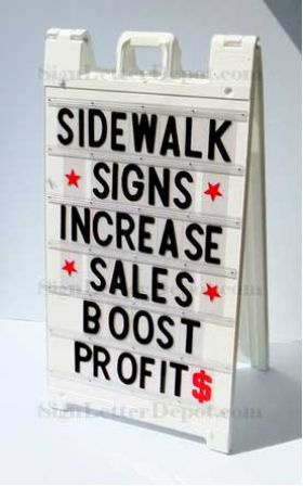 sidewalk signs and other changeable letter advertising signicade a frame changeable letter sidewalk sign 755